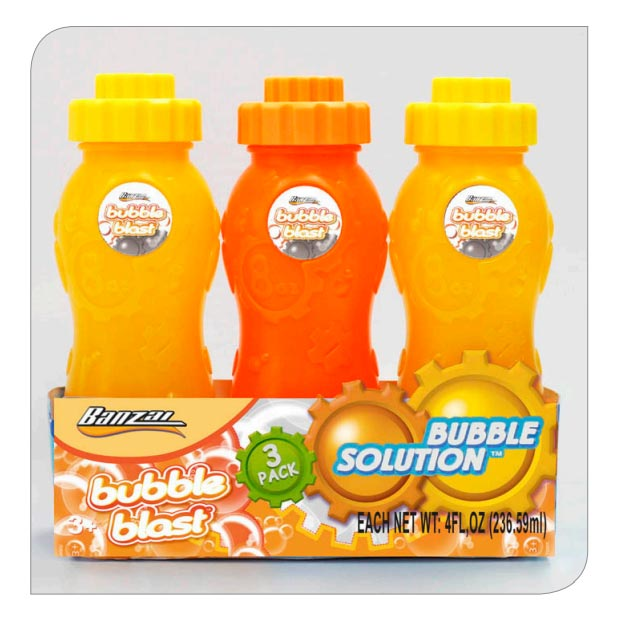 8 Oz Bubble Bottle (3 Pack)