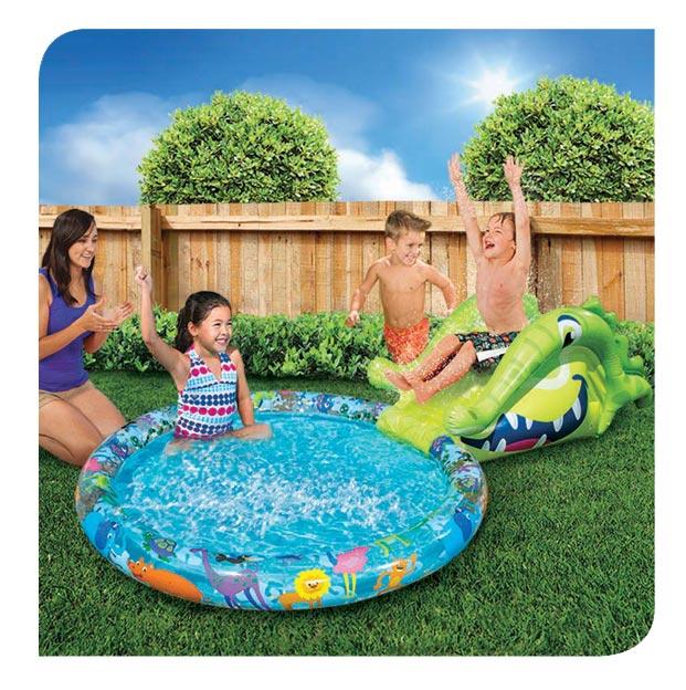 Alligator Slide N Splash Pool