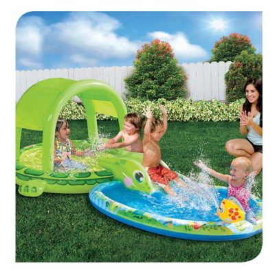 Shade 'n Slide Turtle Splash Pool
