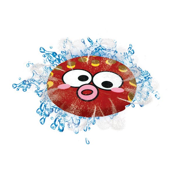 Splash Animal Flying Disc-4 Styles