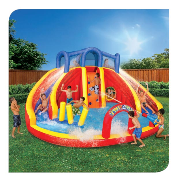 Protest banzai aqua drench 3 in 1 inflatable splash park something