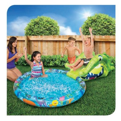Alligator Slide N Splash Pool