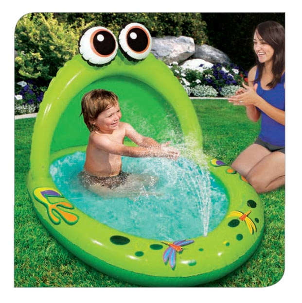 Spray u0027n Play Froggy Canopy Pool  sc 1 st  Banzai & Spray u0027n Play Froggy Canopy Pool | Banzai | Backyard Fun!