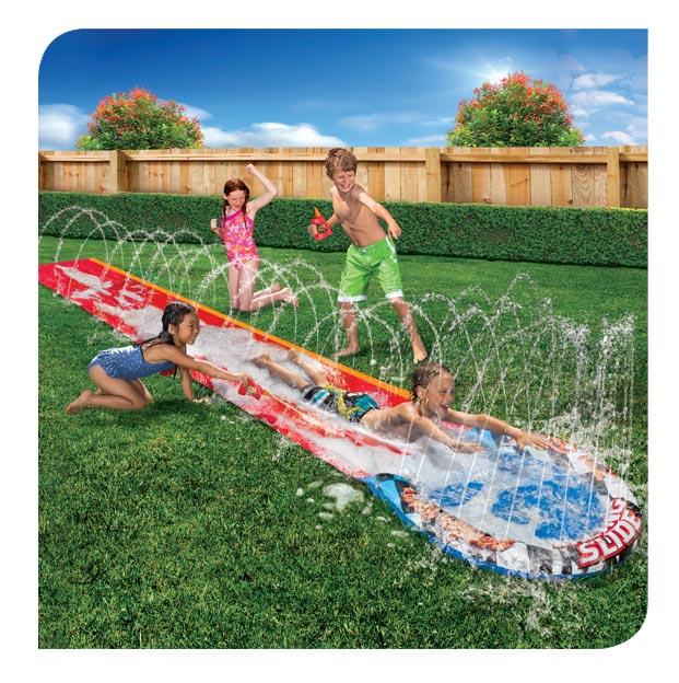 Splash Sprint Racing Slide   Banzai   Backyard Fun!